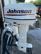 Used 1992 Johnson 25 Hp 2-cyl Carbureted 2-stroke 20 L Outboard Motor