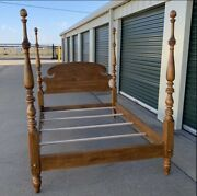 Super Niceethan Allen Circa 1776 Collection Maple Full Size Post Bed