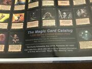 Mtg Alpha And Beta Wotc 1993 Licensed Poster Charity Fellowship Sheets Poster