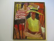 Vintage Portrait Oil Painting Abstract Expressionism Modernist Impressionism