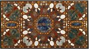 Black Marble Dining Table Top Scagliola Inlay Handmade Art Home Living Deco B295