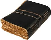 Leather Journal- Handmade Leather Bound Vintage Paper Leather Notepad