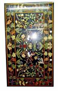 Black Marble Dining Table Top Pietra Dura Inlay Floral Art Home Hall Decors B296