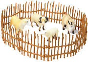 Farm Animal Figurines 4 Pieces Sheep Family Playset Of Small Realistic Plastic A