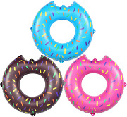 Akaso Inflatable Pool Tubes 3 Pack, Pool Floats Swimming Ring For Kids Water T