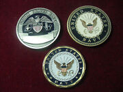Lot Of 3 Us Navy Challenge Coin