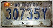 .99 Sale 1989 Indiana Truck 7 License Plate 30735y No Reserve Elkhart County