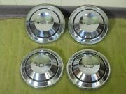 68 69 70 Chevrolet Dog Dish Hubcaps 10 1/2 Set Of 4 Chevy 1968 1969 1970 Copo