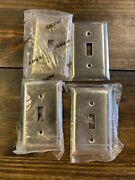 4 Stainless Steel 1-gang Toggle Switch Wall Plate Cover Switchplate 93071