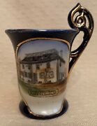 Antique Souvenir Cup Glen Sander's Old House Scotia Ny Wheelock Dresden Germany