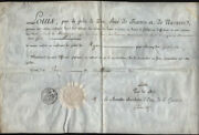 King Louis Xviii France - Military Appointment Signed 08/22/1815