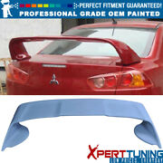 Fits 08-17 Mitsubishi Lancer 4dr Painted Abs Trunk Spoiler - Oem Painted Color