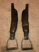 Australian Stock Saddle Leather Aussie Fenders And Irons With Pads Adult Size