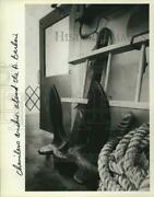 Press Photo Chinless Anchor Aboard The Andrew Barberi Ferryboat - Sia06103