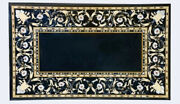 Black Marble Dining Table Pietra Dura Scagliola Floral Inlay Art Home Decor B325