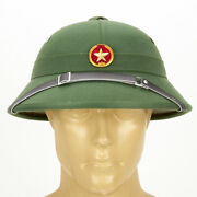 North Vietnamese Army Vietcong Pith Helmet With Red Star Badge