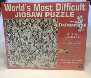 Worlds Most Difficult Jigsaw Puzzle Dalmatians Buffalo Games 500 Pc Double Sided