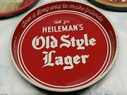 Vintage Heilemanand039s Old Style Lager Beer Tray Metal Serving Tray
