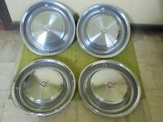 74 75 76 Cadillac Hub Caps 15 Set Of 4 Wheel Cover Caddy Hubcaps 1974 1975 1976