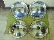 49 50 Lincoln Hub Caps 15 Set Of 4 Wheel Covers Hubcaps 1949 1950