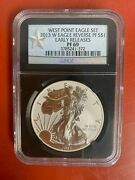 2013-w Reverse Proof Silver American Eagle West Point Eagle Set Ngc Pf69 1 Coin