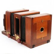 Vintage Wooden E. R. And C. Enlarging Reducing Copying 5x7 Large Format Camera