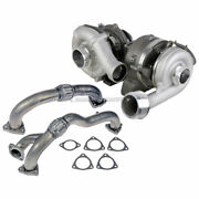 For Ford F250 F350 6.4l Diesel Stigan Turbo Turbocharger W/ Gaskets Up-pipes