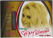 2010 Benchwarmer Blonde Hair Cut Auto Hc1 Mary Riley 1/1 Of Red Autograph Dna