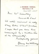 Henry M. Stanley - Autograph Letter Signed 11/28/1895