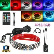 Rgb 24and36 Led Strip Undercar Tube Underglow Underbody Neon Light Kit 15 Color