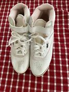 Rarevintage 80s Reebok Freestyle High Top Hi Top White Leather Womens Us Size 9