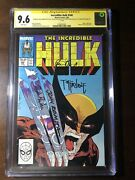 Incredible Hulk 340 1988 - Quadruple Signed - Cgc 9.6 - White Pages - Key