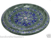 16 Marble Fruit Bowl Collectible Lapis Inlaid Mosaic Floral Handmade Decor H538
