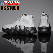 Menand039s Casual Athletic High Top Running Tennis Shoes Breathable Sports Sneakers