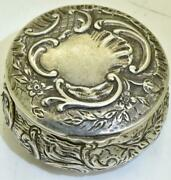 Imperial Russian 84 Silver Pill Box By Julius Rappoport For Grand Duchess Anna