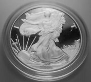 2005-w American Eagle Silver Proof Original Government Packaging Ogp And Coa