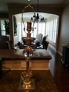 Restoration Hardware Crystal Ball Urn Table Lamp With Shade