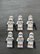 Lego Star Wars Clone Trooper Minifigures Lot Of 6 Decaled 212th Battalion