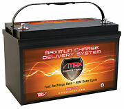 Vmax Xtr31-135 For Mid Aamerican Pontoon Group 31 12v Marine Deep Cycle Battery