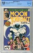 Moon Knight 1 Cbcs 9.8 Nmmt White Pgs 11/80 1st Moon Knight In His Own Ti