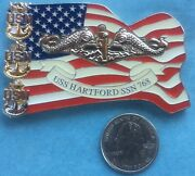 Us Navy Challenge Coin Uss Hartford Ssn-768 Chief Mess Cpo