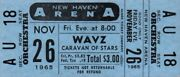 The Byrds / Paul Revere And Raiders 1965 Caravan Of Stars Tour Ticket / Nmt 2 Mint