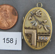Antique Multi-colored Gold Filled Victorian Locket
