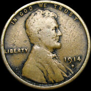1914-d Lincoln Cent Wheat Penny ---- Nice Key Date Rare Us Coin ---- S326