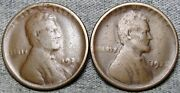 1922-d X2 Lincoln Cent Wheat Penny ---- Nice Details Damage Lot ---- S190