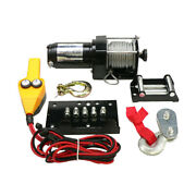New 12 Volt Complete Winch Kit Assembly Fits Can-am Kubota 2500 Lbs Win0015