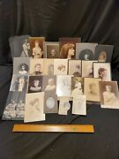 25 Vintage Antique Black And White Photographs Women Lady Girl Wedding Picture