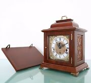 Christiaan Huygens Mantel Clock + Console Vintage Westminster Chime Moonphase