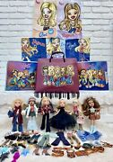 Bratz Doll Lot Of 6 Dolls W/ Clothes Shoes Accessories Posters 2001 Vintage Mga