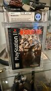 Resident Evil Playstation Ps1 1996 Debut Video Game Longbox Wata Graded 8.0
